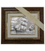 Подарочная картина «Три парусника в море»