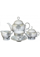 Чайный сервиз «Серебряная роза»