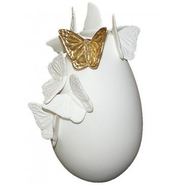 Фарфоровая ваза для цветов «Золотая бабочка», производство CSM/Филиппины