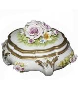 Фарфоровая шкатулка «Розовые розы»