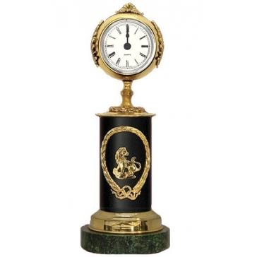 Часы из бронзы «Знак Зодиака-Лев»