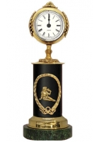 Бронзовые часы «Знак Зодиака - Дева»