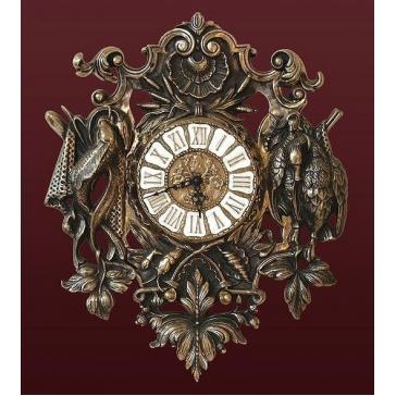 Настенные часы из бронзы «Охотничьи трофеи»