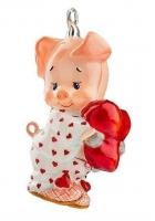 Елочная игрушка «Поросенок в пижаме»