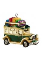 Елочная игрушка «Дилижанс с подарками»