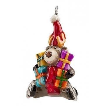 Елочная игрушка «Лось с подарками» из коллекции Komozja Family