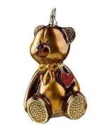 Елочная игрушка «Плюшевое сердце»