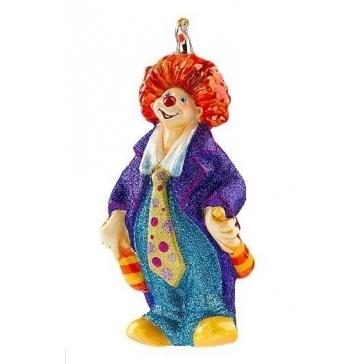 Новогодняя игрушка из стекла «Жонглирующий клоун»