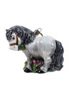 Елочная игрушка «Серая лошадка»