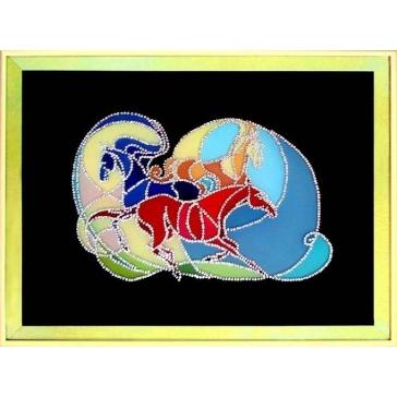 Картина Сваровски «Витражи. Кони»