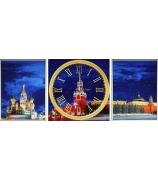 Триптих с часами «Красная площадь»