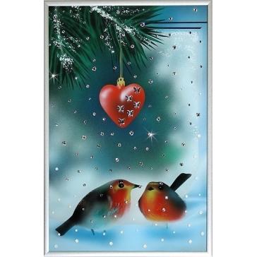 Картина Сваровски «Снегири»