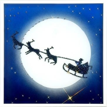 Картина со стразами Сваровски «Сказочное Рождество»
