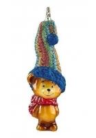 Елочная игрушка «Медвежонок – вязаный колпак»
