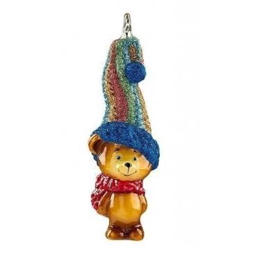 Елочная игрушка «Медвежонок – вязаный колпак», коллекция Komozja и Mostowski