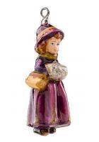 Елочная игрушка «Девочка с муфтой»