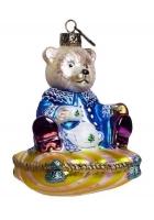 Елочная игрушка «Медвежонок на подушке»