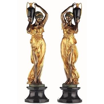 Скульптура из бронзы «Девушка с кувшином», Италия.