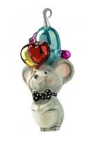 Елочная игрушка «Мышка с воздушными шариками»