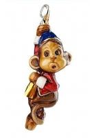 Елочная игрушка «Цирковая обезьянка»