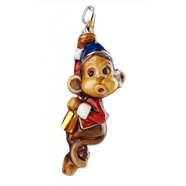 Елочная игрушка из стекла «Цирковая обезьянка», Komozja Family