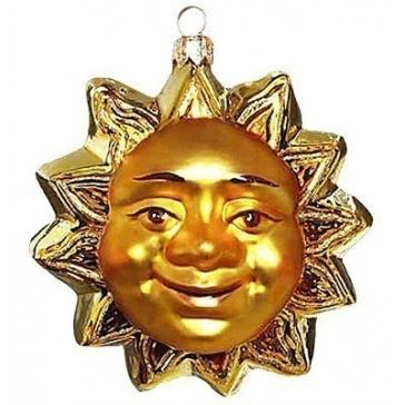 Елочная игрушка ручной работы «Солнце», Польша