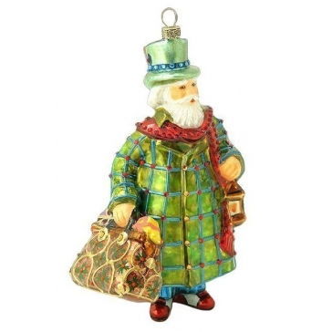 Елочная игрушка из стекла «Санта из Лондона»