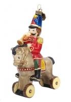 Елочная игрушка «Солдатик на коне»
