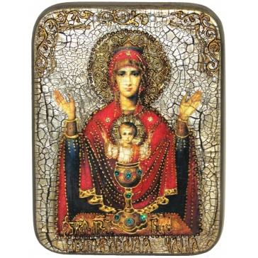 Икона Божией Матери «Неупиваемая чаша», в шкатулке