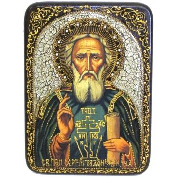 Икона «Преподобный Сергий Радонежский Чудотворец», подарочная