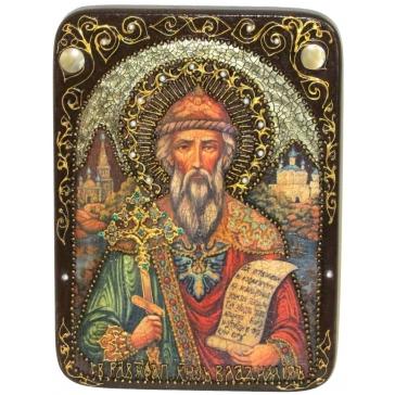 Икона «Святой равноапостольный князь Владимир» в деревянной шкатулке