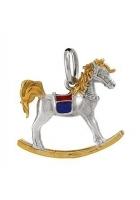 Сувенир-подвеска «Лошадка-качалка», серебро