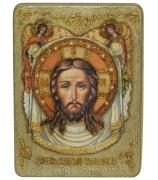 Икона «Спас Нерукотворный» в деревянной шкатулке