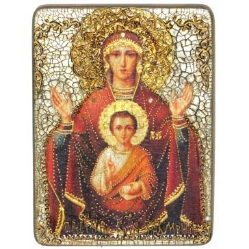 Икона Божией Матери «Знамение», в шкатулке