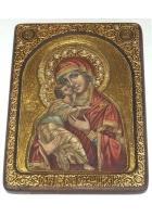 Живописная икона Владимирской Божьей Матери