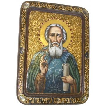 Живописная икона «Преподобный Сергий Радонежский чудотворец»