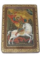 Живописная икона «Чудо Святого Георгия о змие»