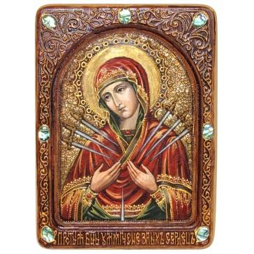 Живописная икона Богородицы «Умягчение злых сердец»