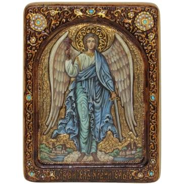 Живописная икона «Ангел Хранитель» на кипарисовой доске.