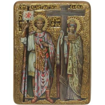 Живописная икона «Святые равноапостольные Константин и Елена»