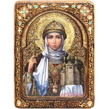 Икона «Святая Равноапостольная княгиня Ольга» живописная