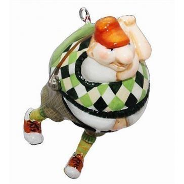 Елочная игрушка ручной работы «Гольфист»