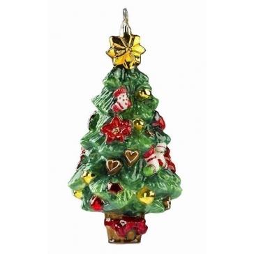 Стеклянная ёлочная игрушка «Праздничная елочка»