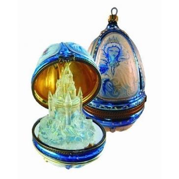 Елочная игрушка-яйцо «Снежная королева», 16х10 см