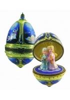 Елочная игрушка-яйцо «Ангельский хор»
