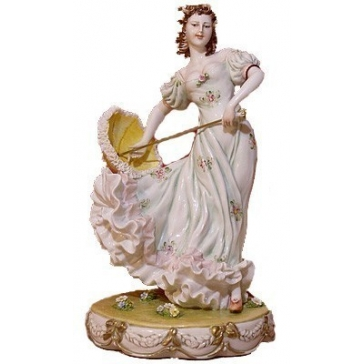 Фарфоровая статуэтка «Дама с зонтиком»
