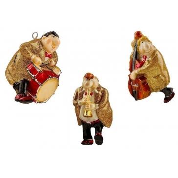 Набор елочных игрушек из стекла «JAZZ BAND»