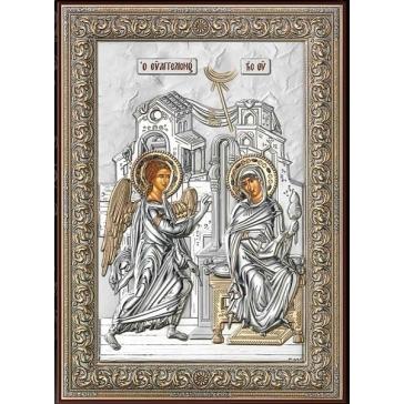 Посеребренная икона «Благовещение»