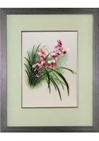 Вышитая картина «Лилейник розовый»