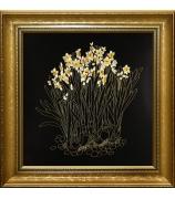 Вышитая картина «Нарциссы»